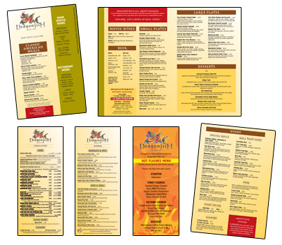 Room Service and Restaurant Menus