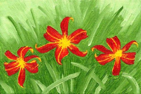 Swaying Daylilies